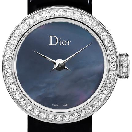часы Dior La Mini D de Dior Cuir Vernis