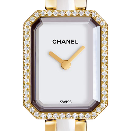 часы Chanel Or jaune, cadran blanc laqué