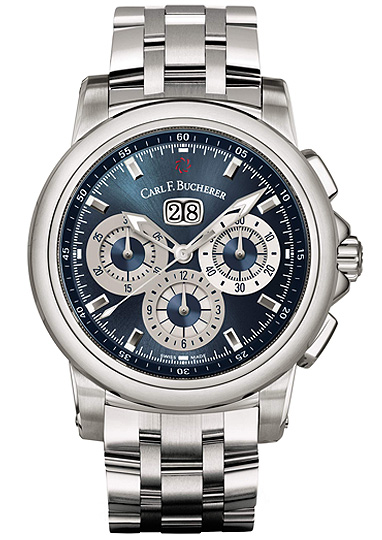 часы Carl F. Bucherer Patravi Chrono Date Blue Wave