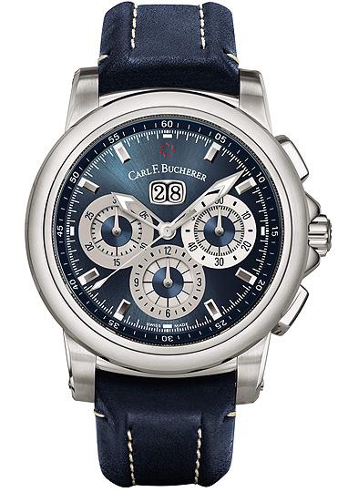 часы Carl F. Bucherer Patravi Chrono Date Blue Wave