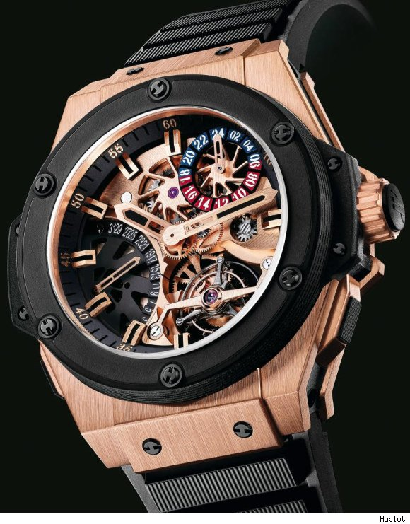часы Hublot Gold King Power Tourbillon GMT