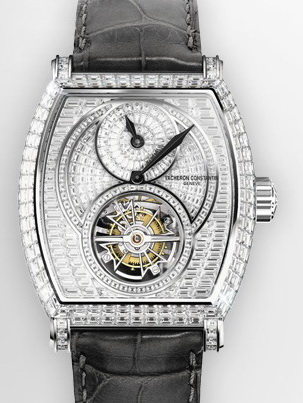 часы Vacheron Constantin Tonneau Regulator Tourbillon High Jewellery