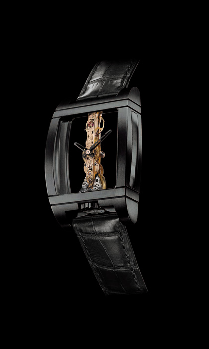 часы Corum Golden Bridge Black Titanium Limited