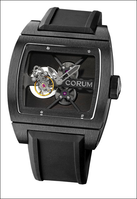 часы Corum Black Ti-bridge Tourbillon