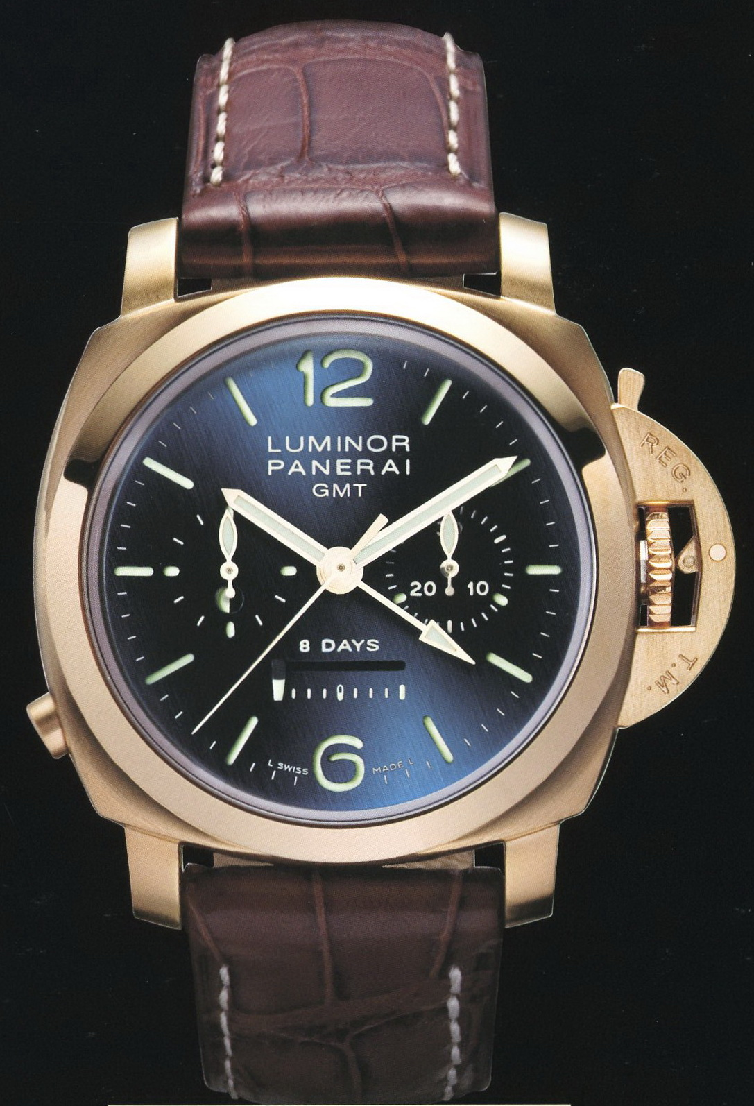 часы Panerai 2007 Special Edition Luminor 1950 8 Days Chrono Monopulsante GMT