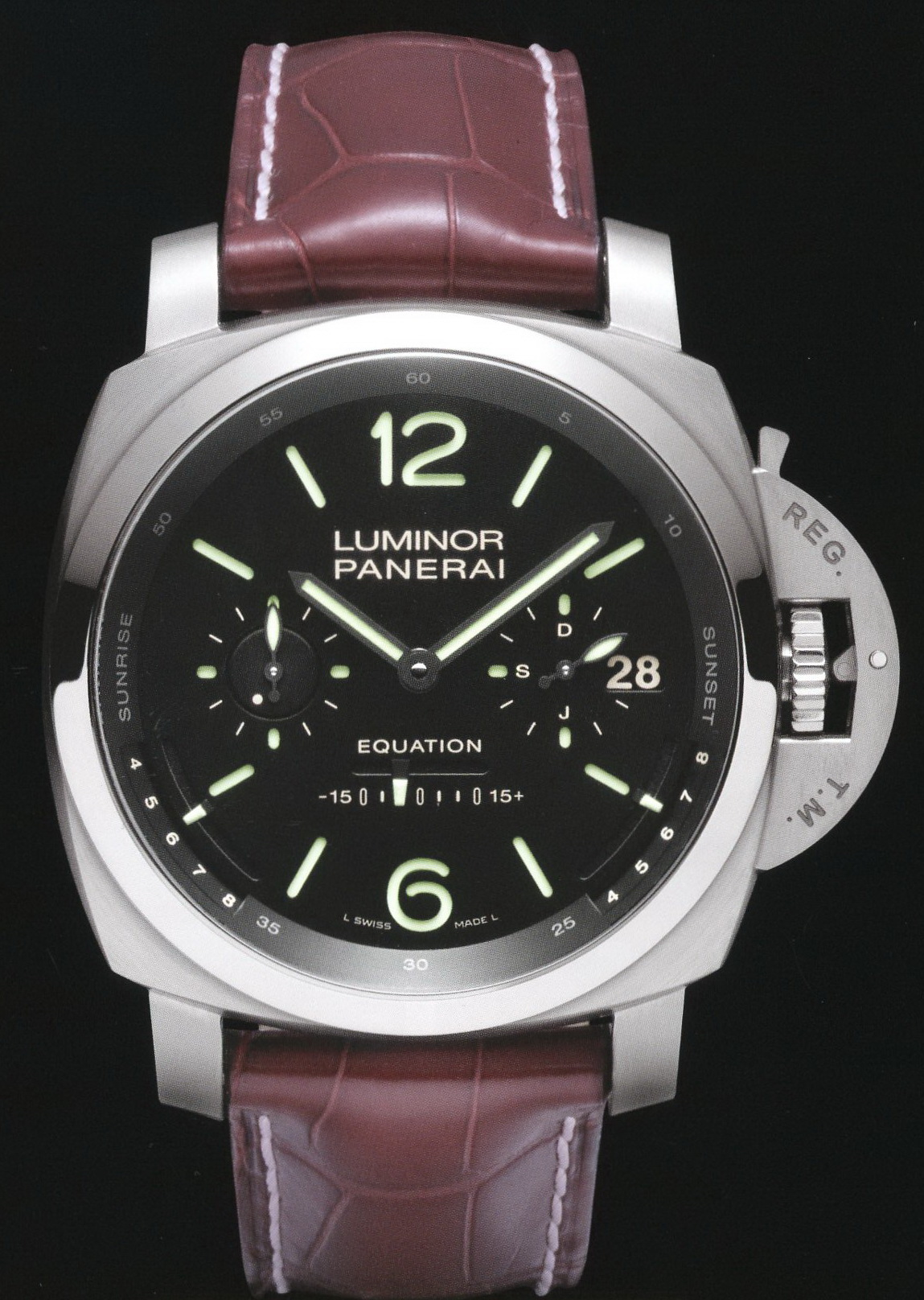 часы Panerai 2010 Special Edition Luminor 1950 Equation of Time Tourbilon Titanium L'Astronomo