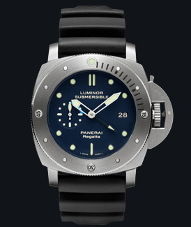 часы Panerai 2011 Special Edition Luminor Submersible 1950 Regatta 3 Days GMT Automatic Titanium