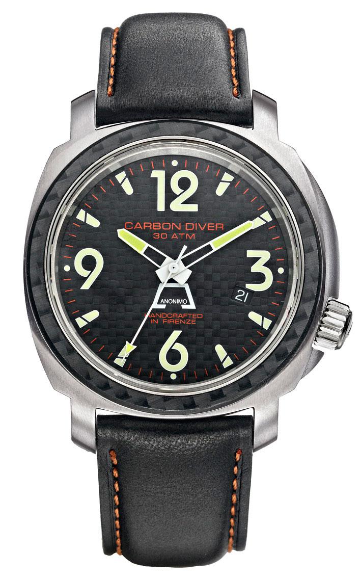 часы Anonimo Carbon Diver