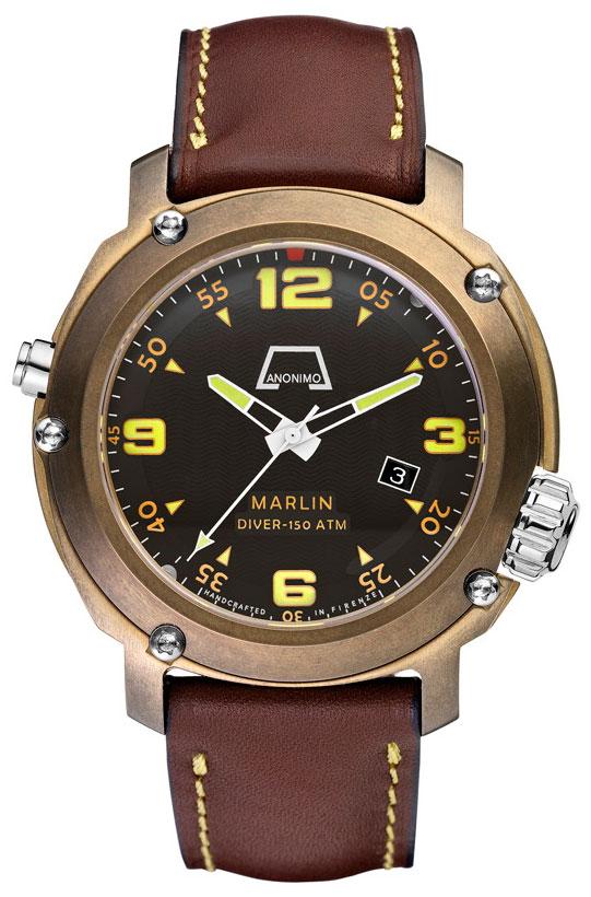 часы Anonimo Marlin Bronze Tabacco