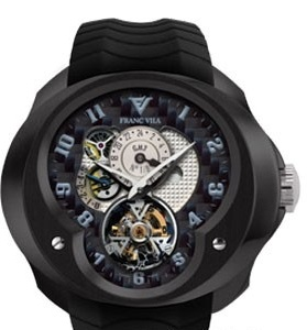 часы Franc Vila Tourbillon Planetaire GMT Black
