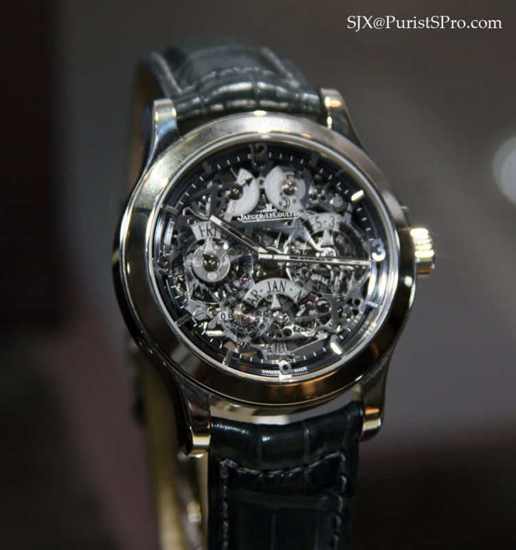 часы Jaeger-LeCoultre Jaeger-LeCoultre Limited Edition xx/100 Master Eight Days Squeleton Perpetual Calendar Platinum Full Set