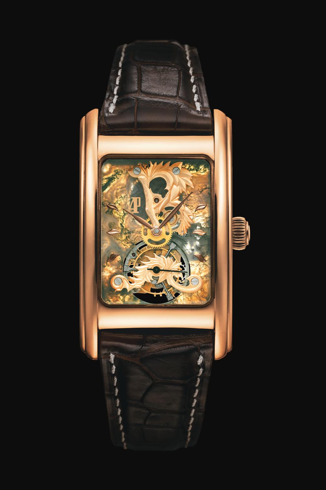 часы Audemars Piguet Moss Agate Tourbillon