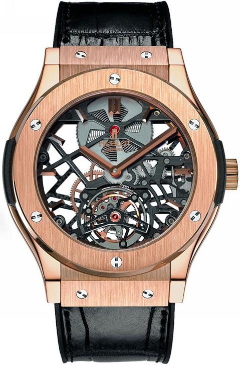 часы Hublot Classic Fusion Skeleton Tourbillon