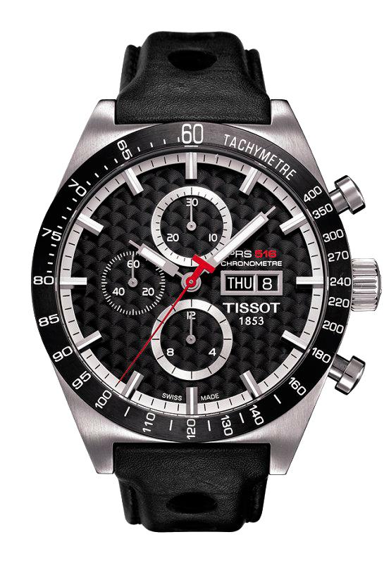 часы Tissot Black Carbon Automatic Chronograph PRS516