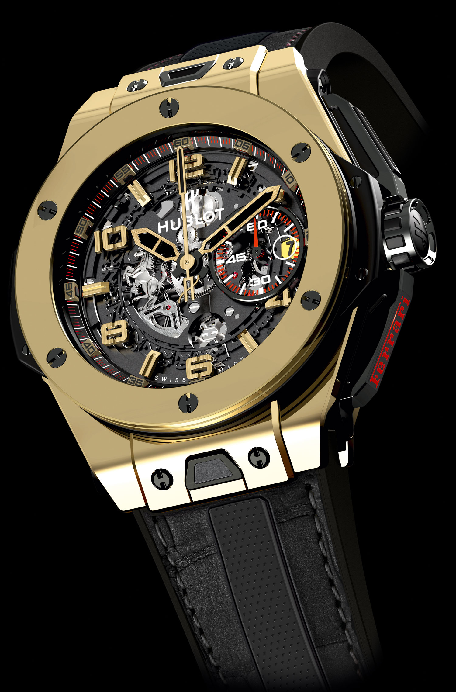 часы Hublot Big Bang Ferrari Magic Gold