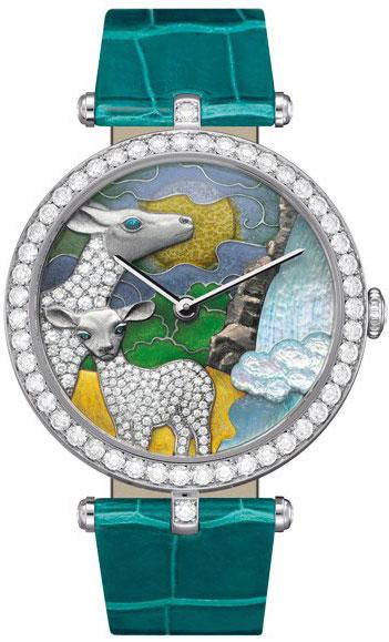 часы Van Cleef & Arpels Lady Arpels African landscape Antelope Decor