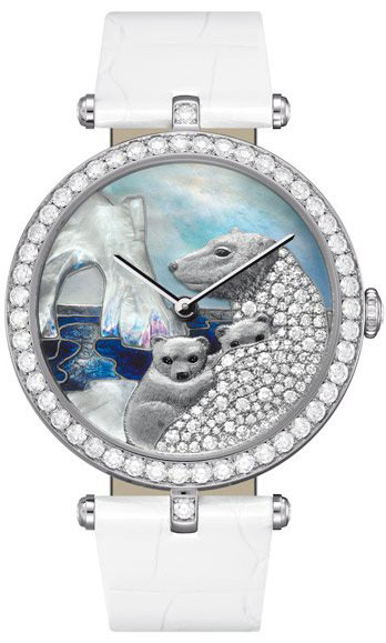 часы Van Cleef & Arpels Lady Arpels Polar landscape White Bear Decor