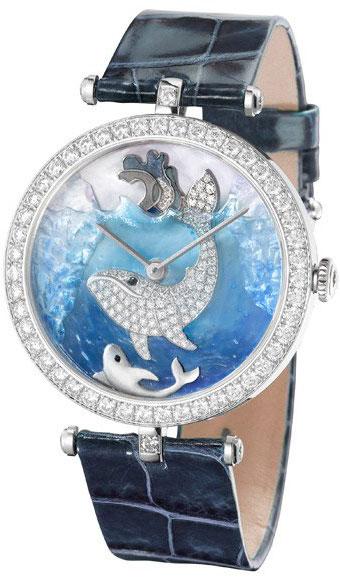 часы Van Cleef & Arpels Lady Arpels Polar landscape Whale Decor