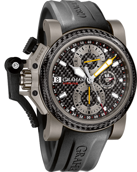 часы Graham CHRONOFIGHTER OVERSIZE TITANIUM AIRWING BLACK CARBON