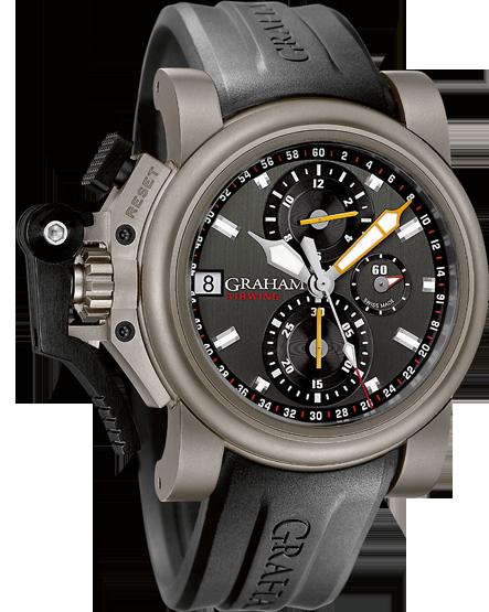 часы Graham CHRONOFIGHTER OVERSIZE TITANIUM AIRWING GUN METAL