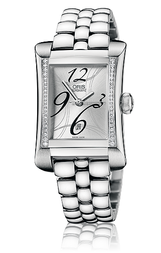 ���� Oris Oris Rectangular Date Diamonds