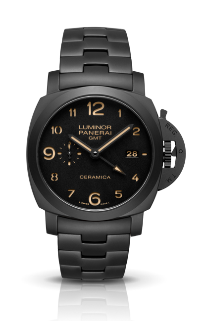 часы Panerai TUTTONERO LUMINOR  1950 3 DAYS GMT  AUTOMATIC CERAMICA
