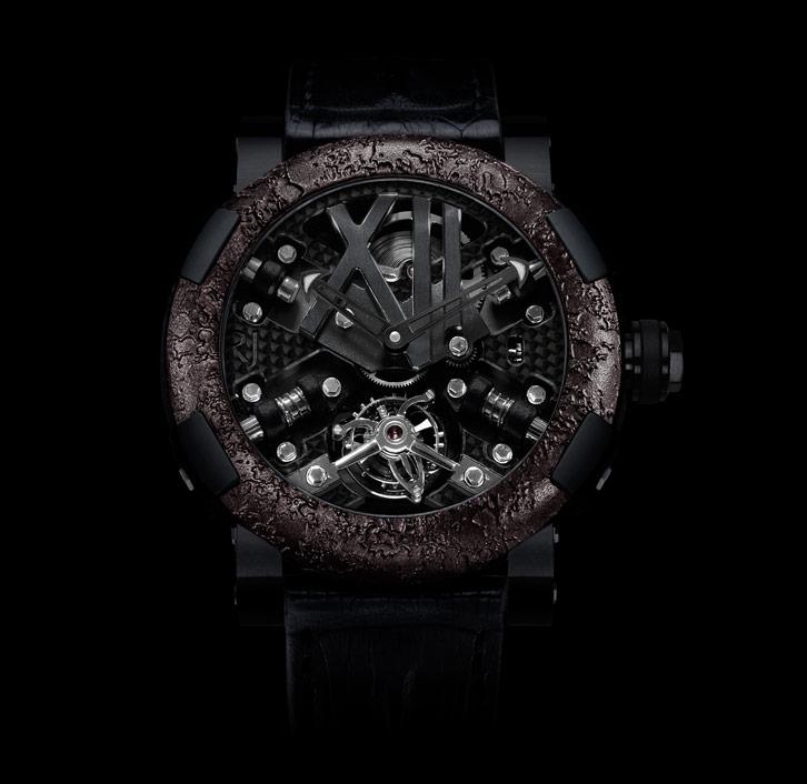 часы Romain Jerome STEAMPUNK BLACK TOURBILLON