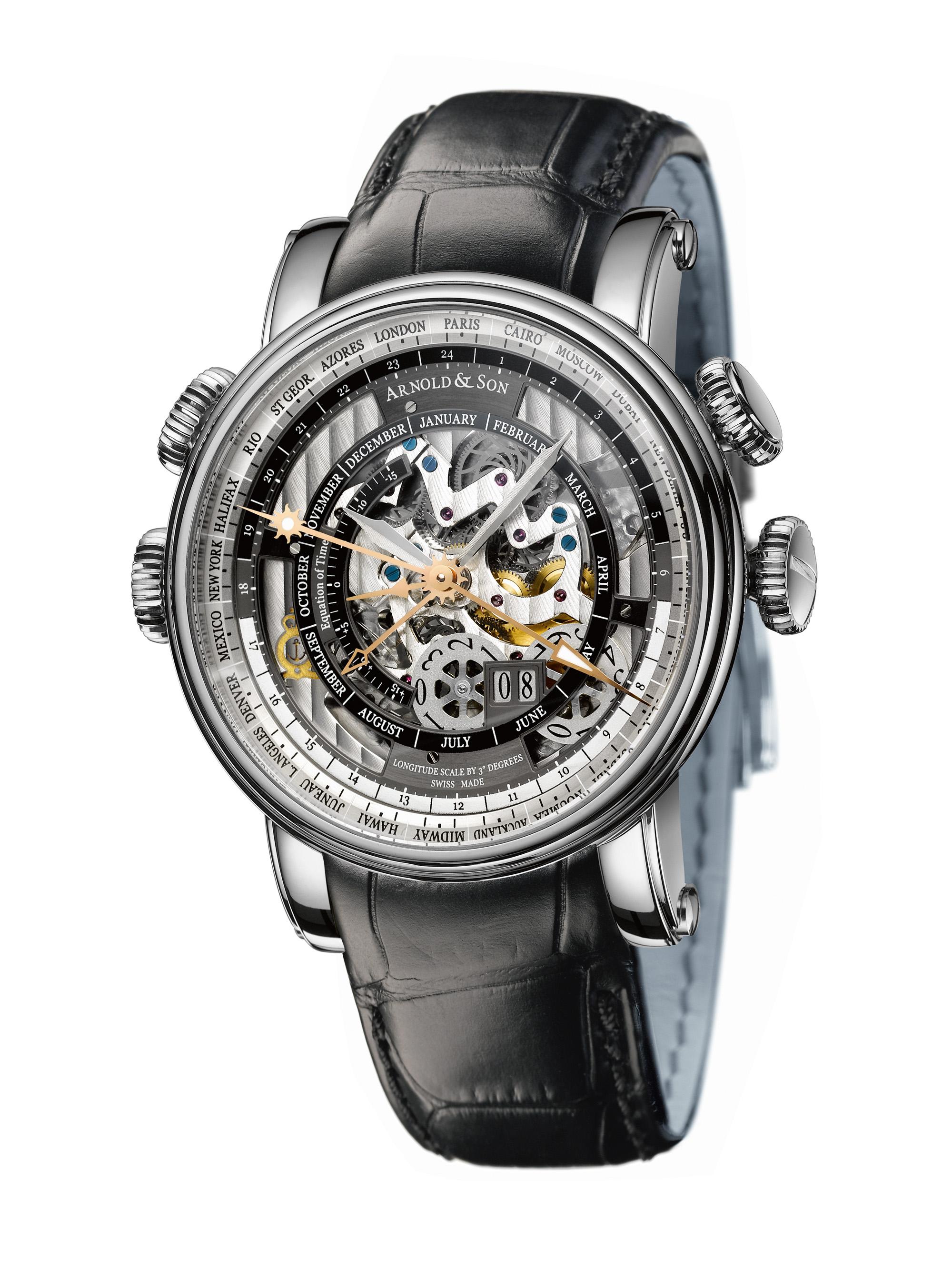 часы Arnold & Son Hornet World Timer Skeleton