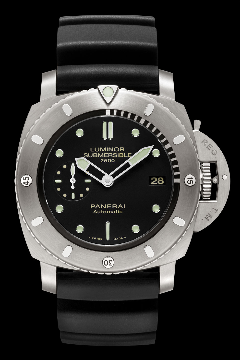 часы Panerai Luminor Submersible 1950 2500M 3Days Automatic Titanio