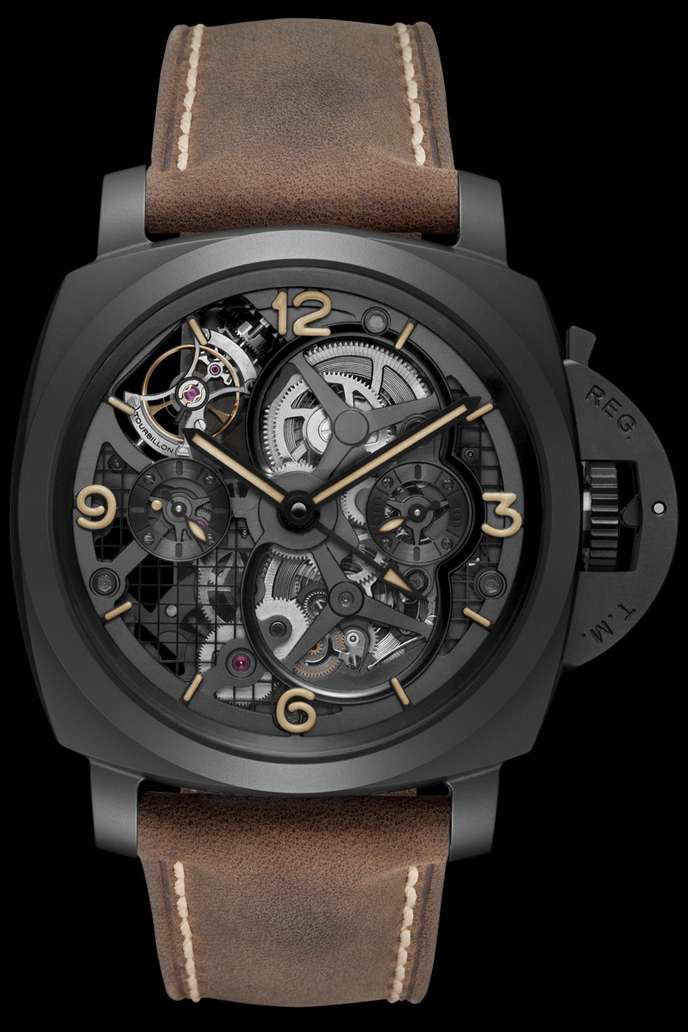 часы Panerai Lo Scienziato Luminor 1950 Tourbillon GMT Ceramica
