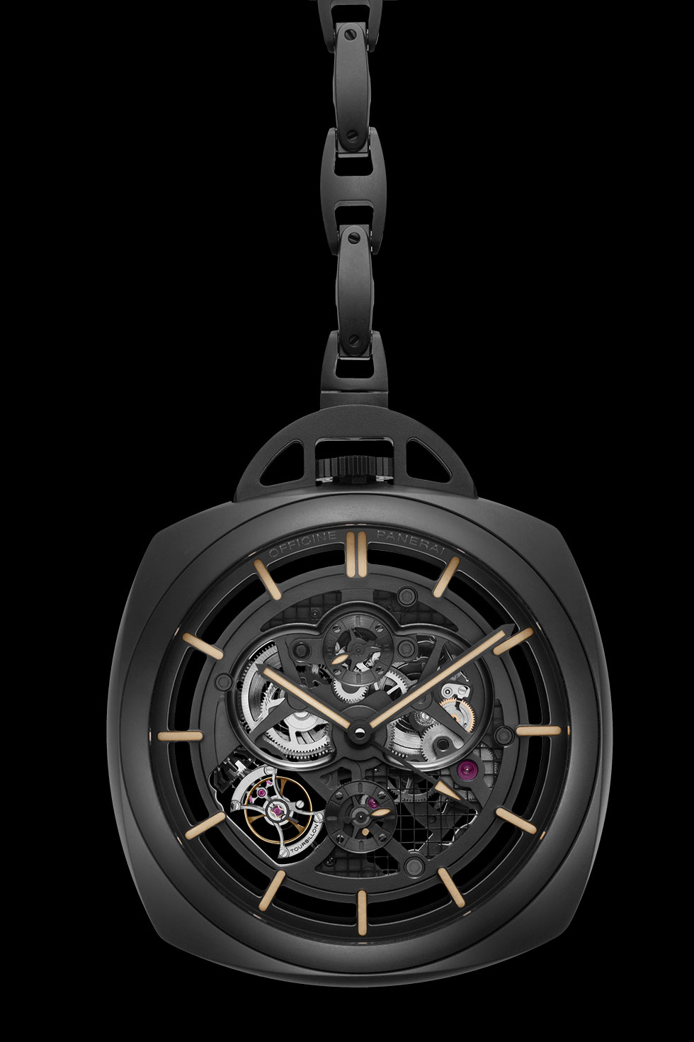 часы Panerai Pocket Watch Tourbillon GMT Ceramica