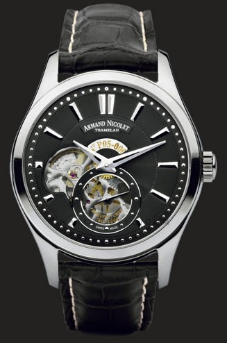 часы Armand Nicolet Steel with black deal