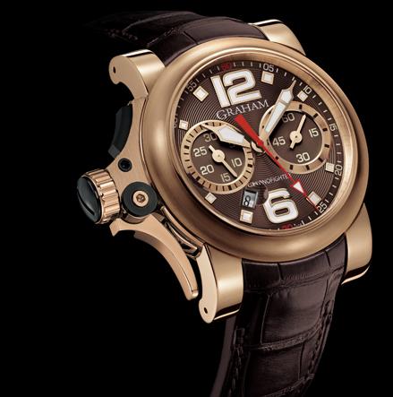 часы Graham Chronofighter R.A.C Trigger Gold Havana Rush