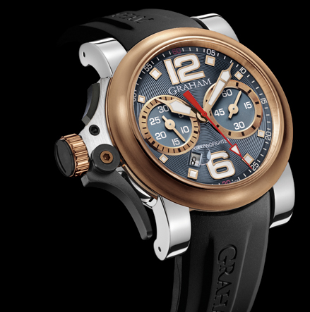 часы Graham Chronofighter R.A.C Trigger Steel & Gold Ice Rush