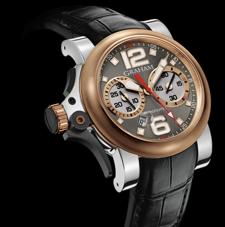 часы Graham Chronofighter R.A.C Trigger Steel & Gold Charcoal Rush