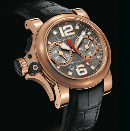 часы Graham Chronofighter R.A.C Trigger Gold Charcoal Rush