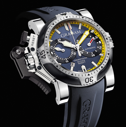 часы Graham Chronofighter Oversize Diver/Date Tech Seal Scarab