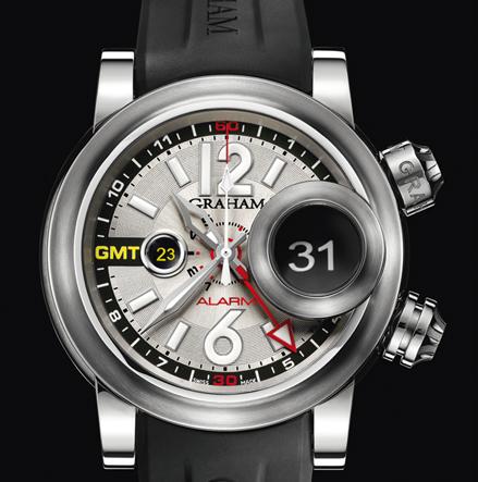 часы Graham Swordfish Grillo Alarm GMT Silver Eye