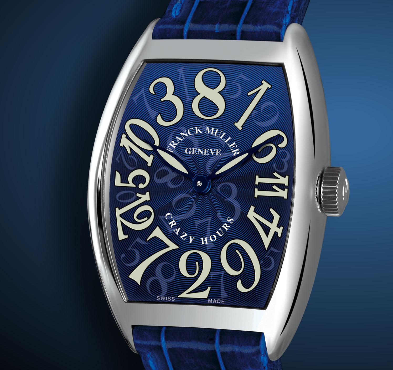 часы Franck Muller Crazy Hours Blue Dial