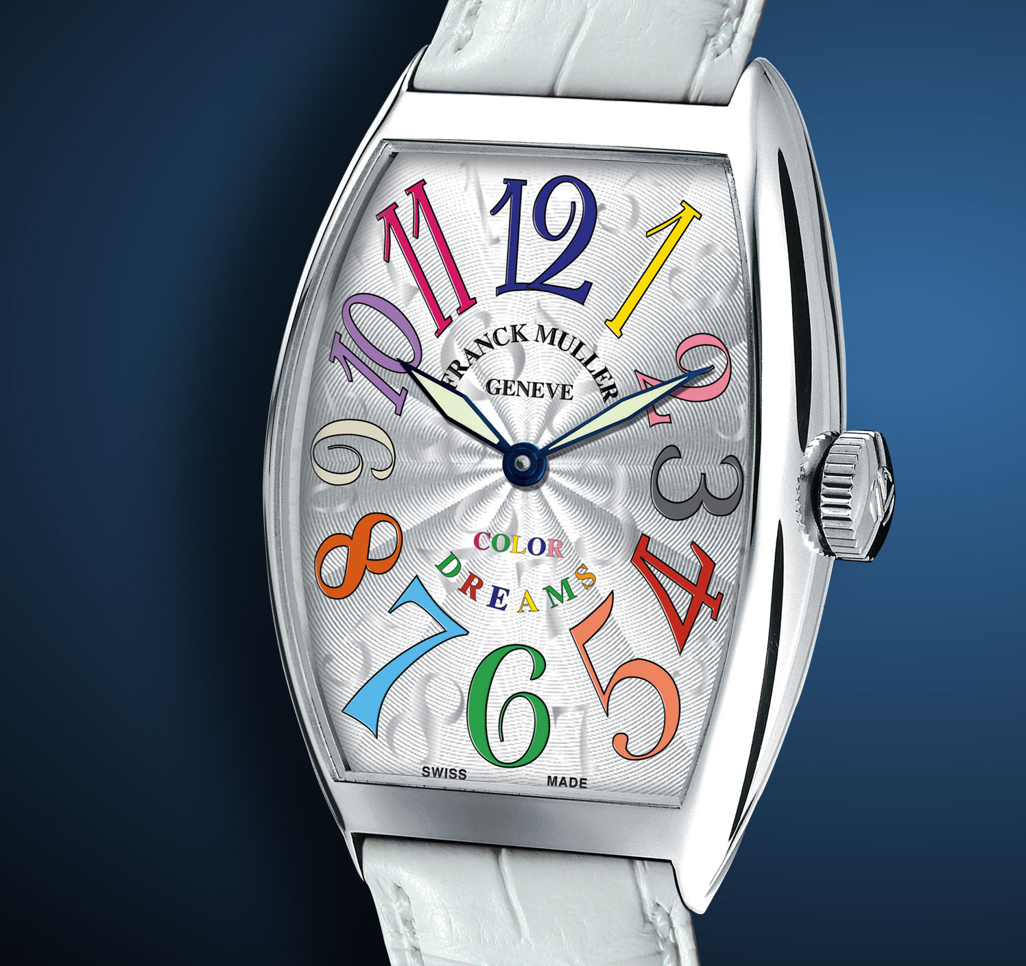 часы Franck Muller Cintrée Curvex Color Dreams White