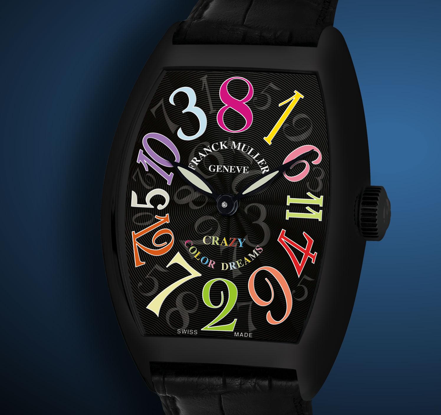 ���� Franck Muller Crazy Hours Color Dreams Black Stainless Steel