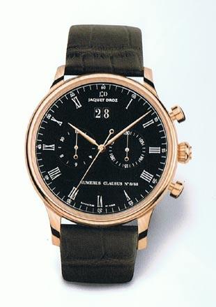 часы Jaquet-Droz Chrono Grande Date Black Enamel