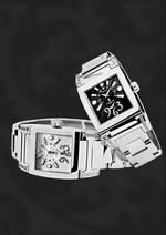 часы De Grisogono Instrumentino Steel & Diamonds 2009