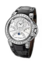 часы Harry Winston Ocean Chrono (WG_Diamonds / Black Leather)