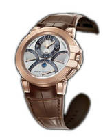 часы Harry Winston Ocean Chrono (RG / Brown Leather)