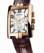 часы Harry Winston Avenue C Chrono (RG / Silver / Leather)