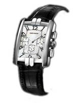 часы Harry Winston Avenue C Chrono (WG / Silver / Black Leather)