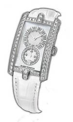 часы Harry Winston Avenue C Midsize (WG / White Leather)
