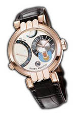 часы Harry Winston Excenter Timezone (RG / White / Leather)