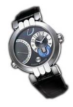 часы Harry Winston Excenter Timezone (WG / Grey / Leather)